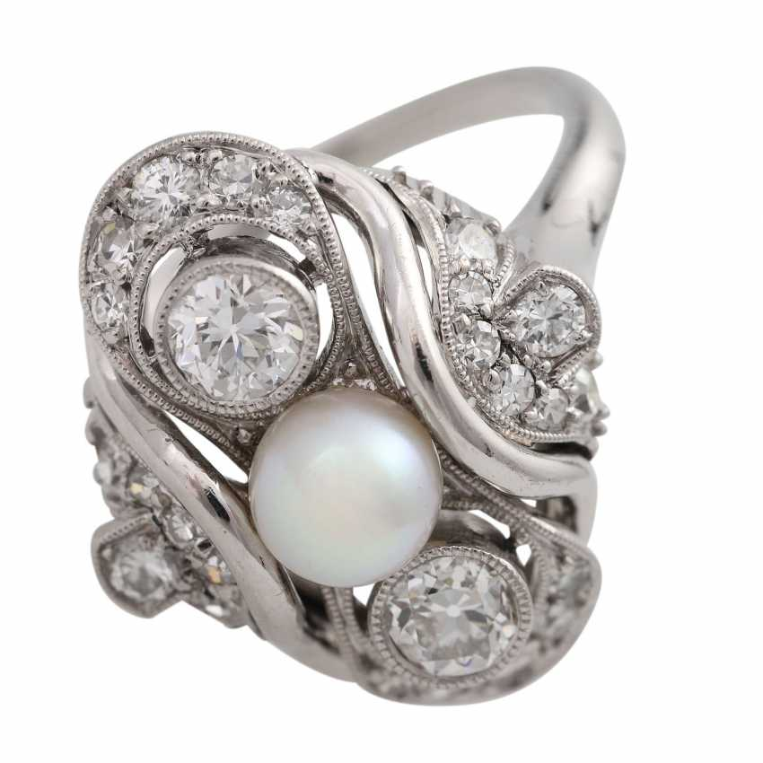 Ring with Akoya cultured pearl and diamonds together is approximately 0.7 ct - photo 5