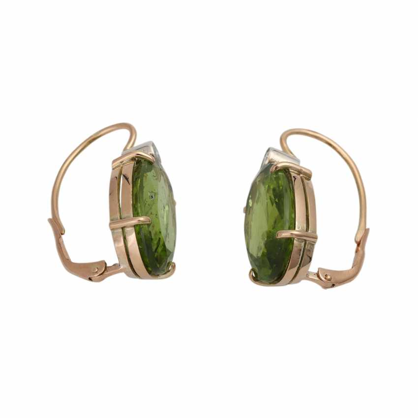 Earrings with Peridots and brilliants - photo 2
