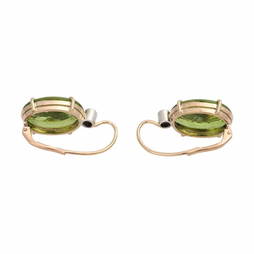 Earrings with Peridots and brilliants - photo 4