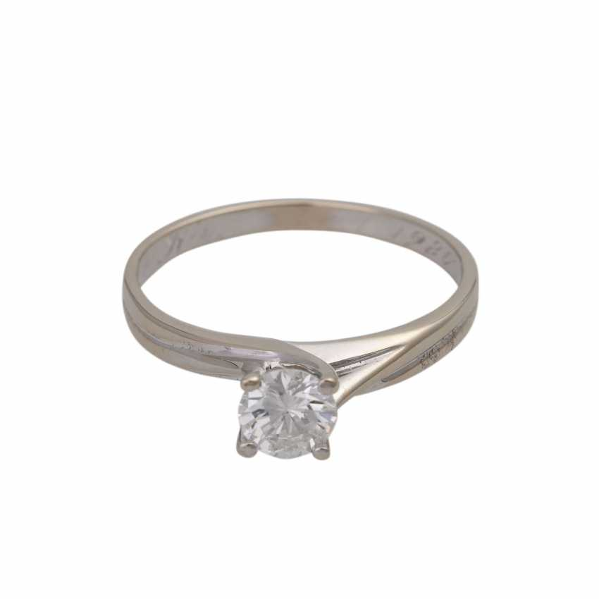 Ring with diamond of approx 0.5 ct, - photo 1