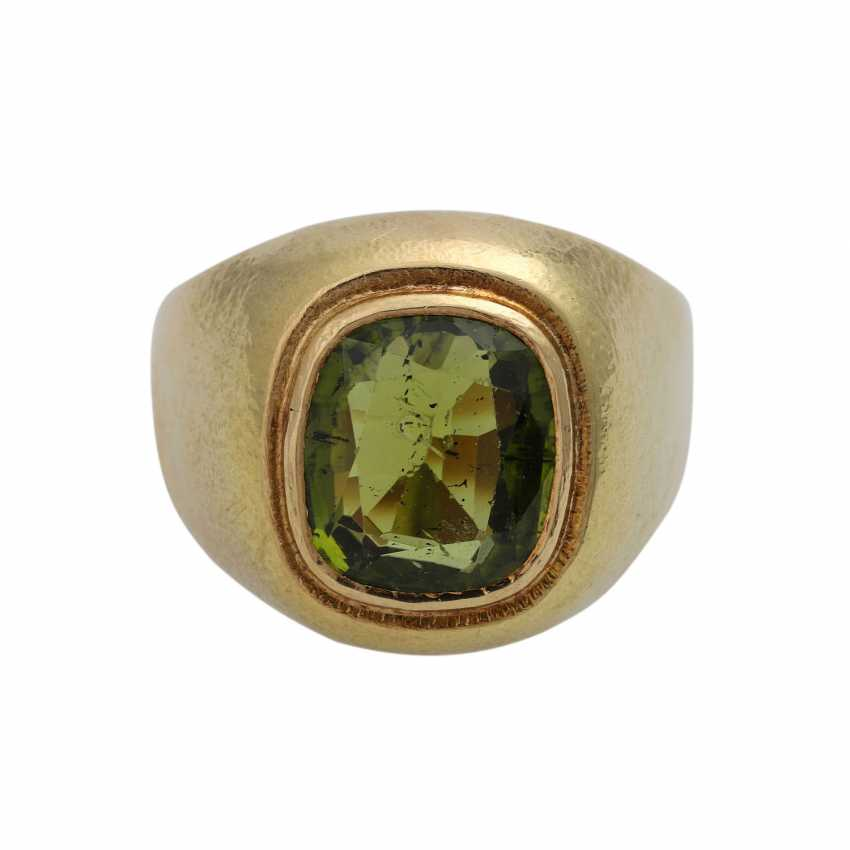 Ring with large Peridot, approx. 4,5 ct - photo 1