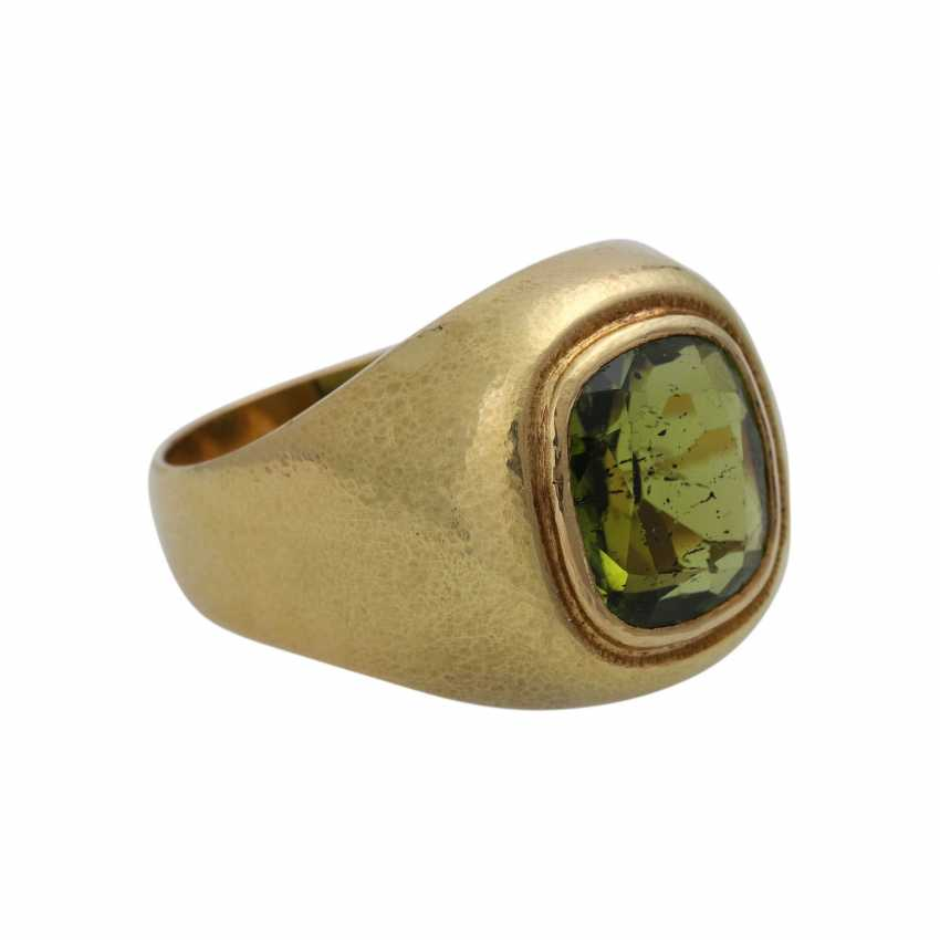 Ring with large Peridot, approx. 4,5 ct - photo 2