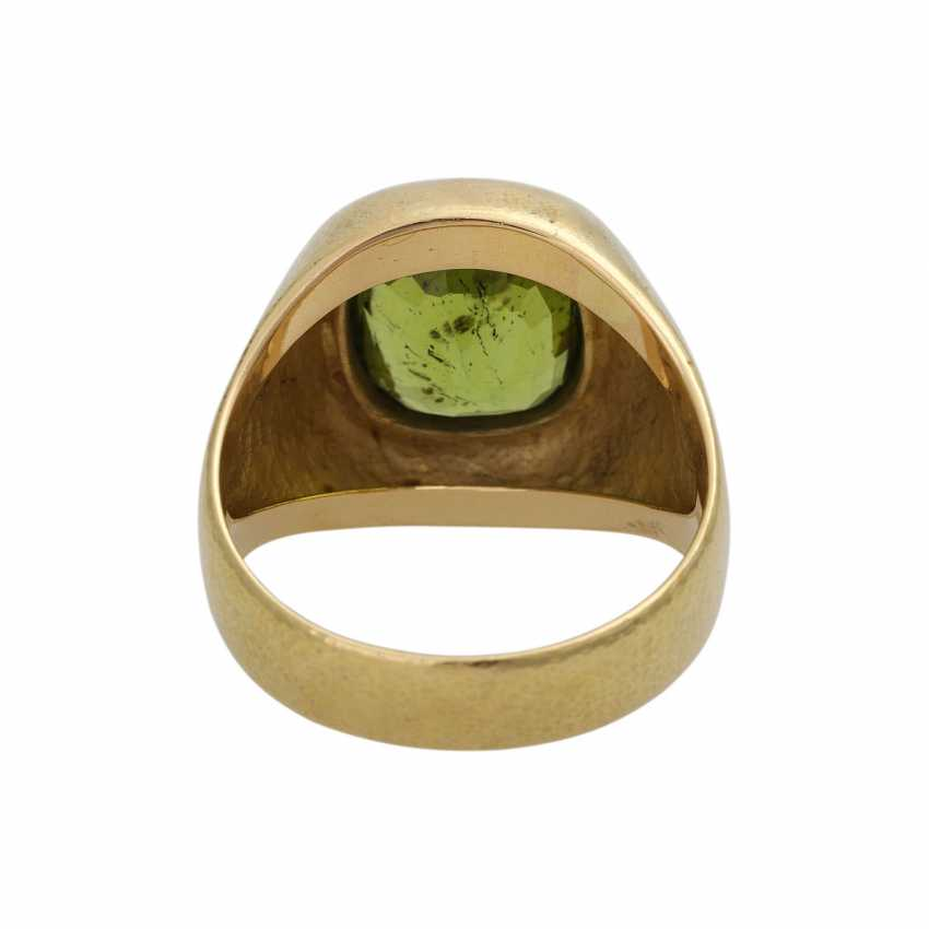 Ring with large Peridot, approx. 4,5 ct - photo 4
