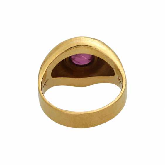 Ring mit Rubincabochon ca. 2 ct, - photo 4