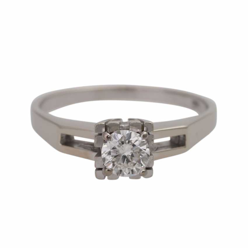 Ring with solitaire diamond approx 0,45 ct, - photo 1