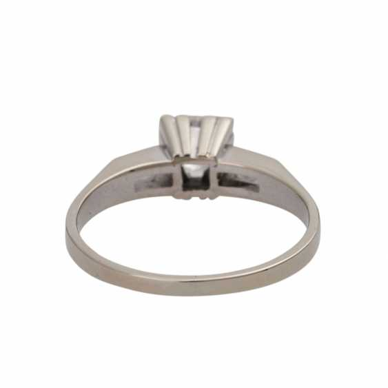 Ring with solitaire diamond approx 0,45 ct, - photo 4