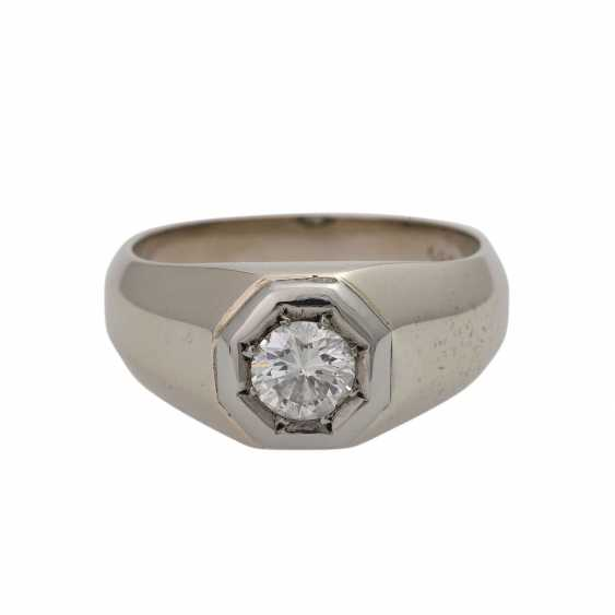 Ring with brilliant-solitaire approx 0.5 ct, - photo 1