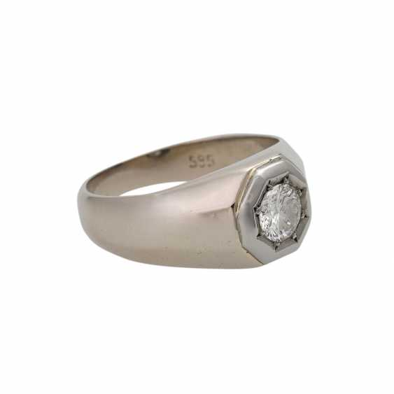 Ring with brilliant-solitaire approx 0.5 ct, - photo 2