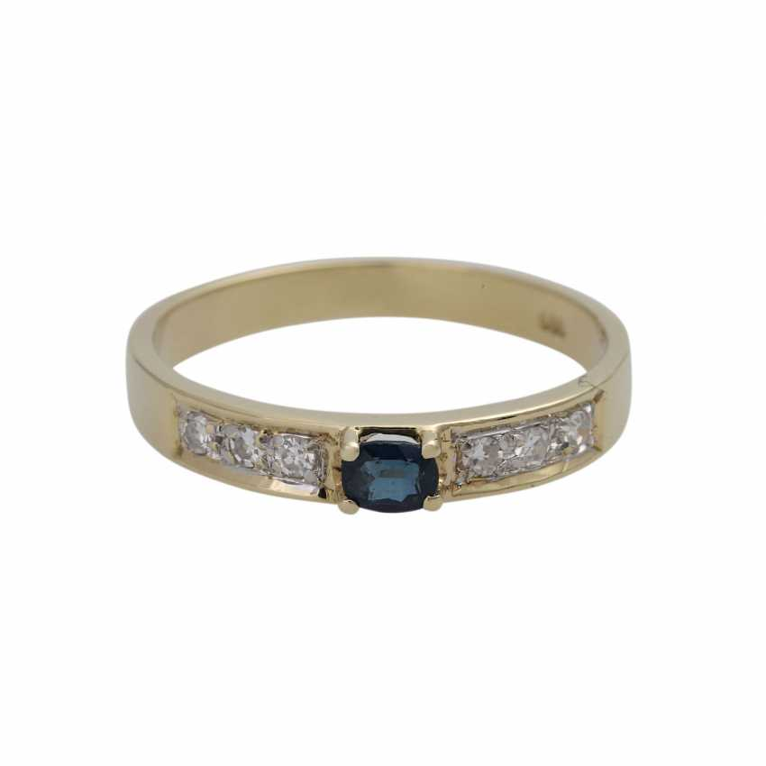 3 piece ring set with precious stones, - photo 3