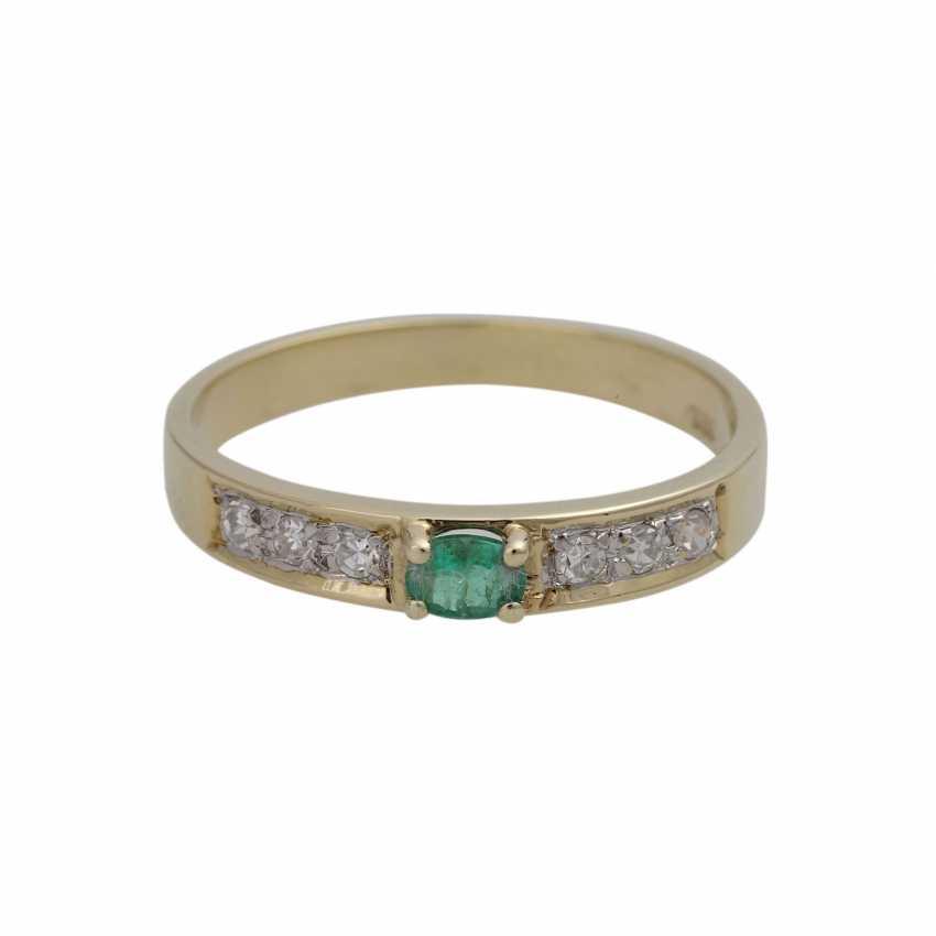 3 piece ring set with precious stones, - photo 4
