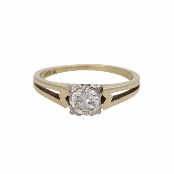 Ring mit Brillant ca. 0,55 ct, - photo 1