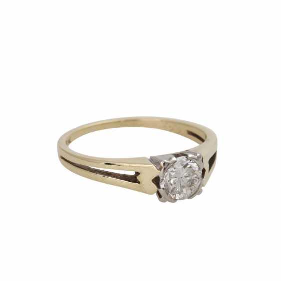 Ring mit Brillant ca. 0,55 ct, - photo 2