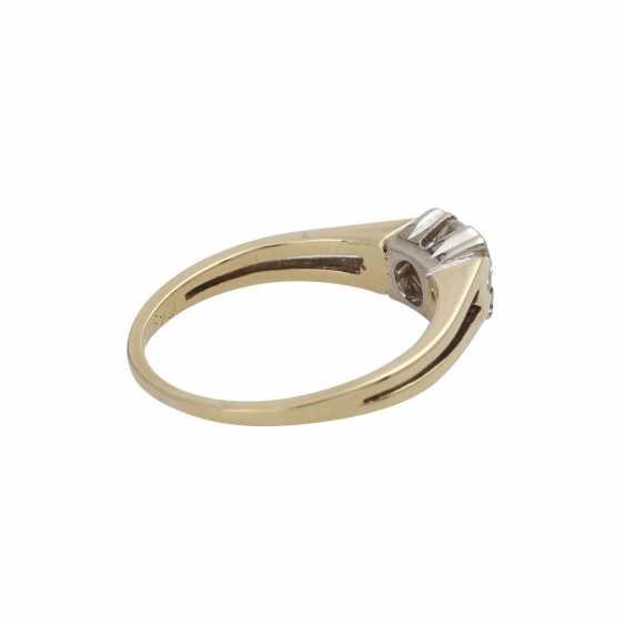 Ring mit Brillant ca. 0,55 ct, - photo 3