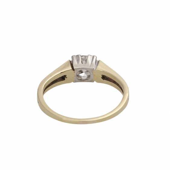 Ring mit Brillant ca. 0,55 ct, - photo 4