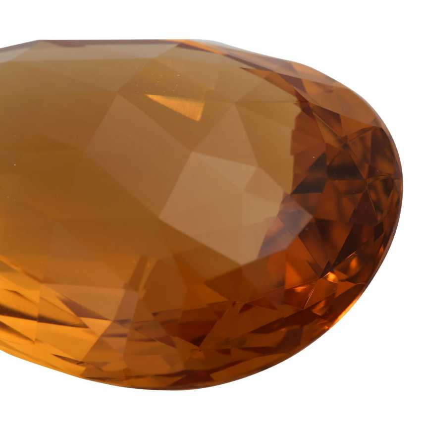 Pendant with a large, orange-brown Citrine briolette, for example-approximately 300 ct - photo 5