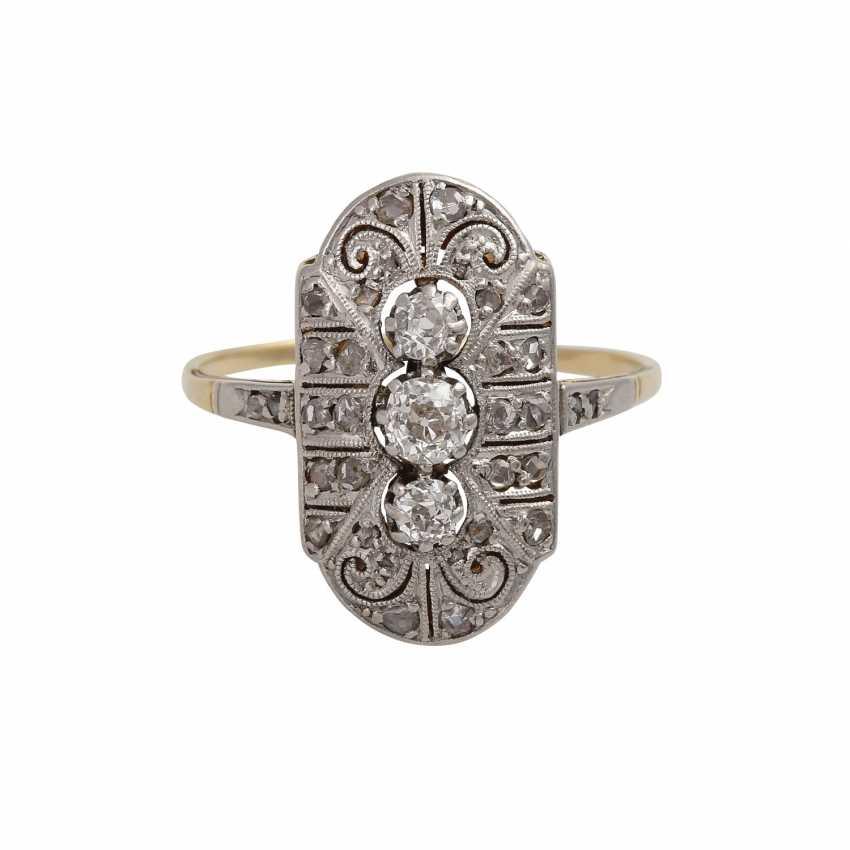 Art Deco Diamantring zusammen ac 0,3 ct - photo 1