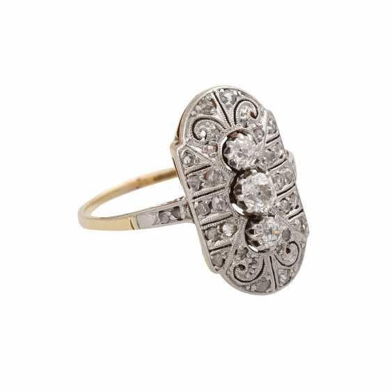 Art Deco Diamantring zusammen ac 0,3 ct - photo 2