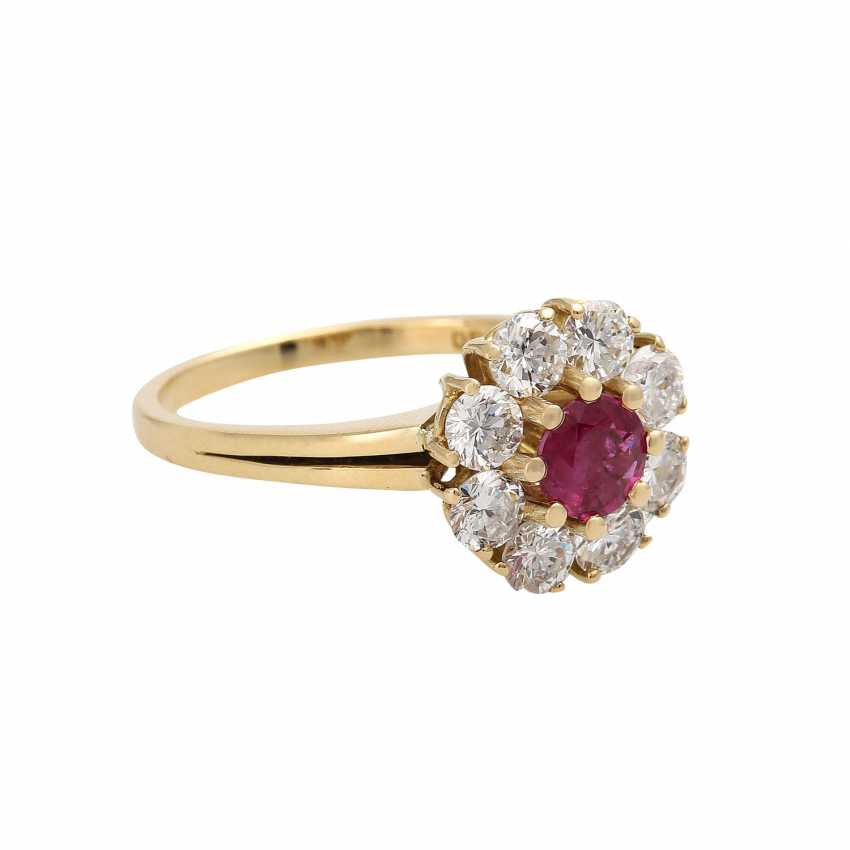 Ruby ring, approximately 0.6 ct brilliant wreath - photo 2
