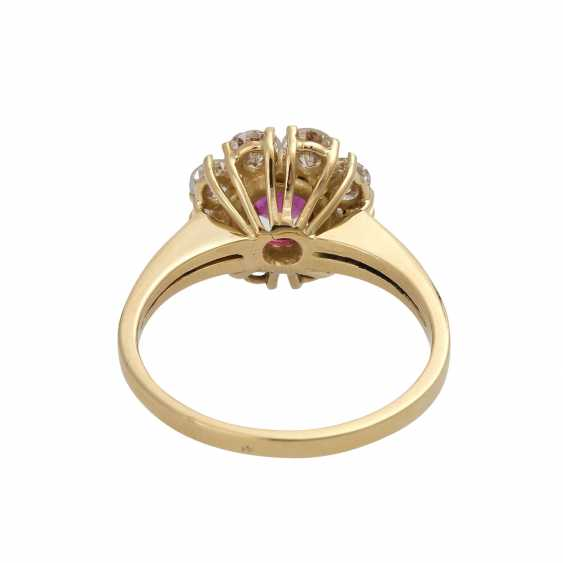 Ruby ring, approximately 0.6 ct brilliant wreath - photo 4