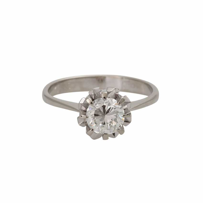Ring with brilliant-solitaire of 1,003 ct - photo 1