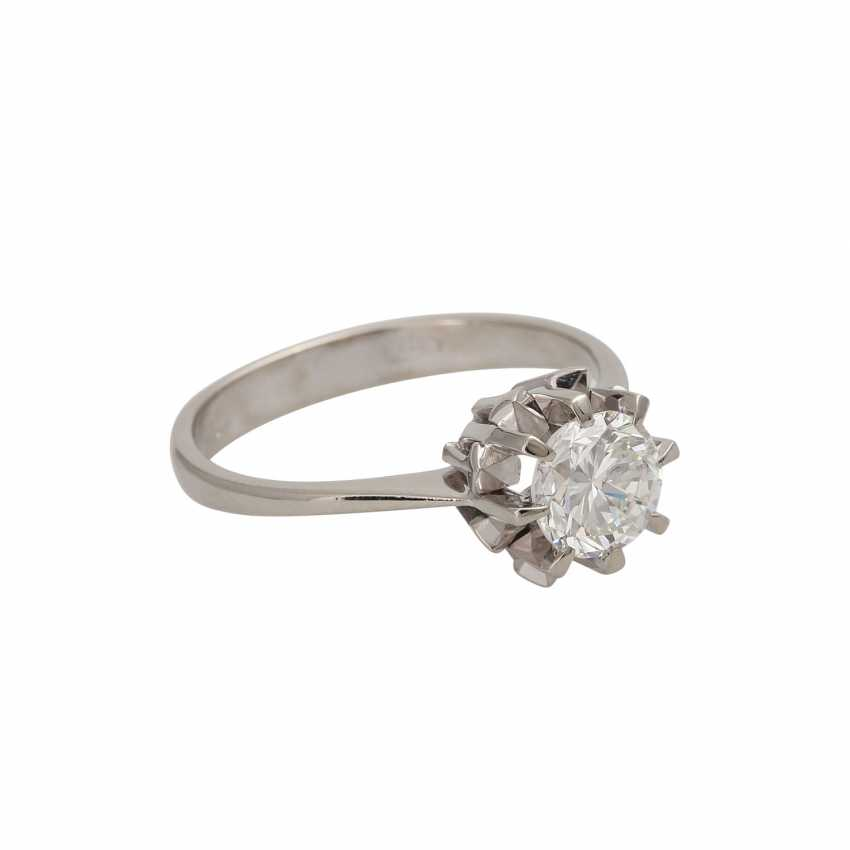 Ring with brilliant-solitaire of 1,003 ct - photo 2