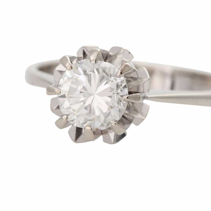 Ring with brilliant-solitaire of 1,003 ct - photo 5