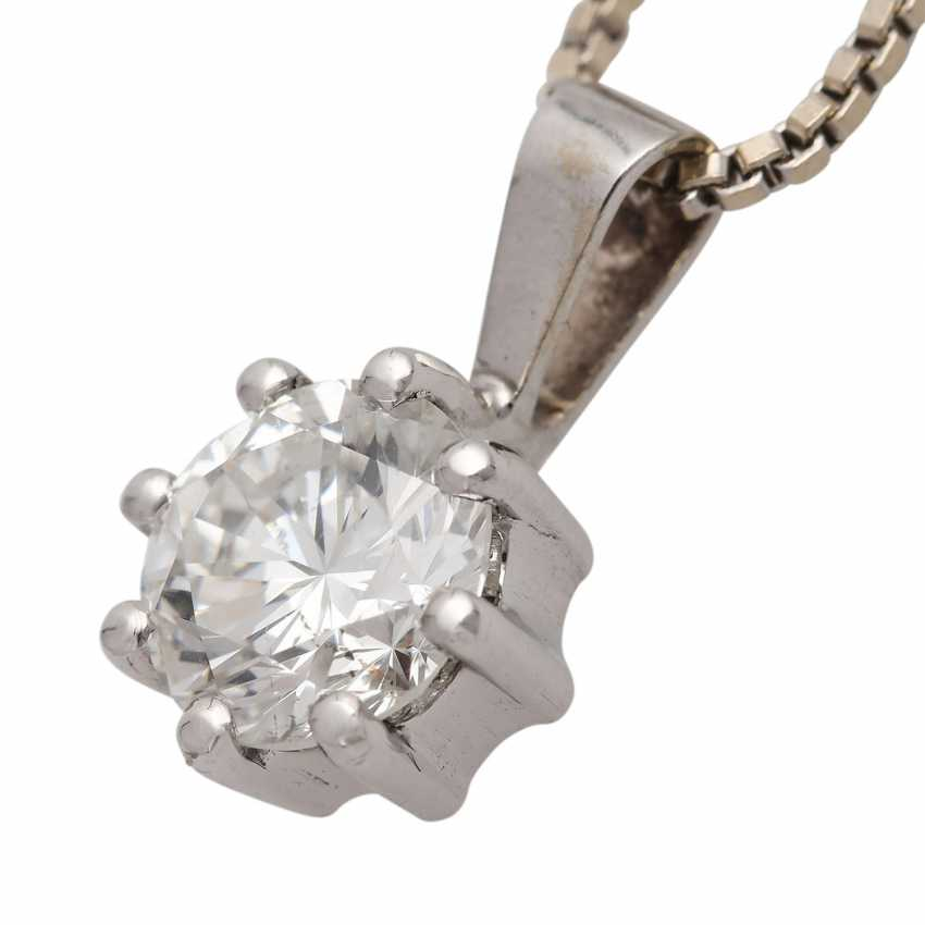 Chain with diamond pendant approx. 1,23 ct - photo 5
