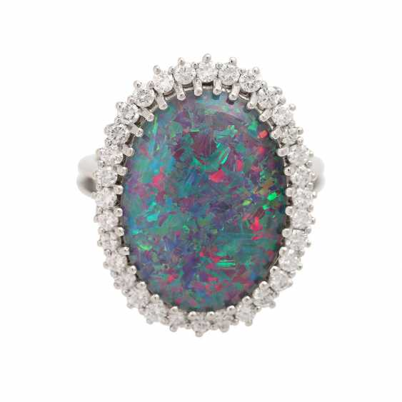 Ring with Opal-triplette and diamonds - photo 1