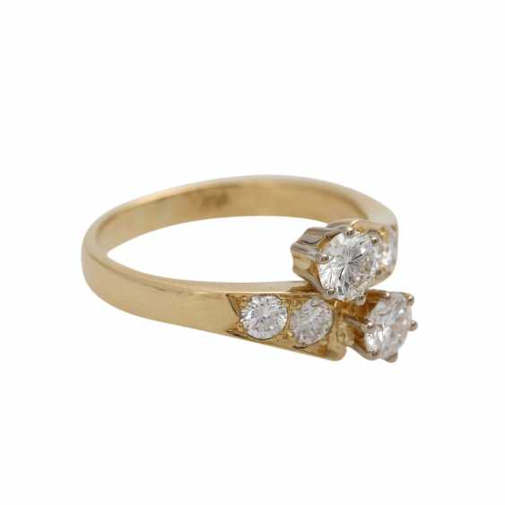 Ring with brilliant-cut diamonds together approximately 0.9 ct, - photo 2