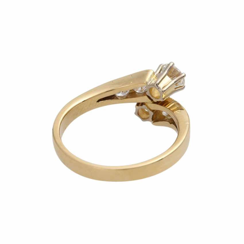 Ring with brilliant-cut diamonds together approximately 0.9 ct, - photo 3