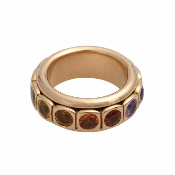 Rotating ring with different gemstones - photo 1