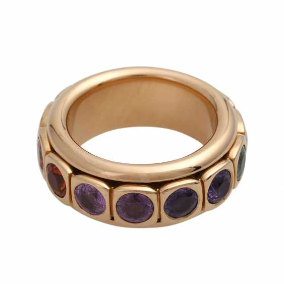 Rotating ring with different gemstones - photo 2