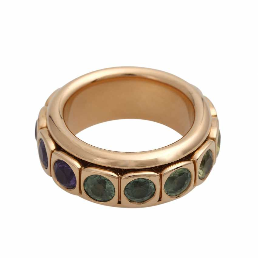 Rotating ring with different gemstones - photo 3