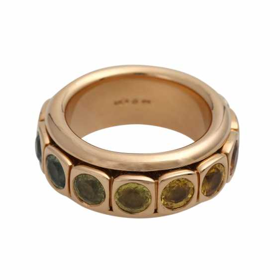 Rotating ring with different gemstones - photo 4