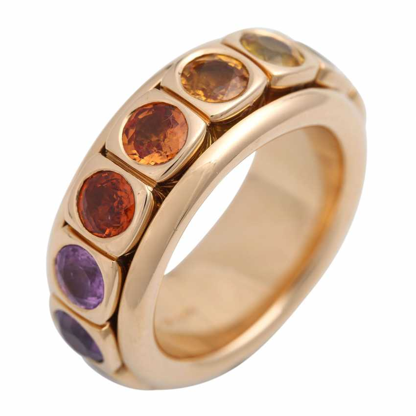 Rotating ring with different gemstones - photo 5