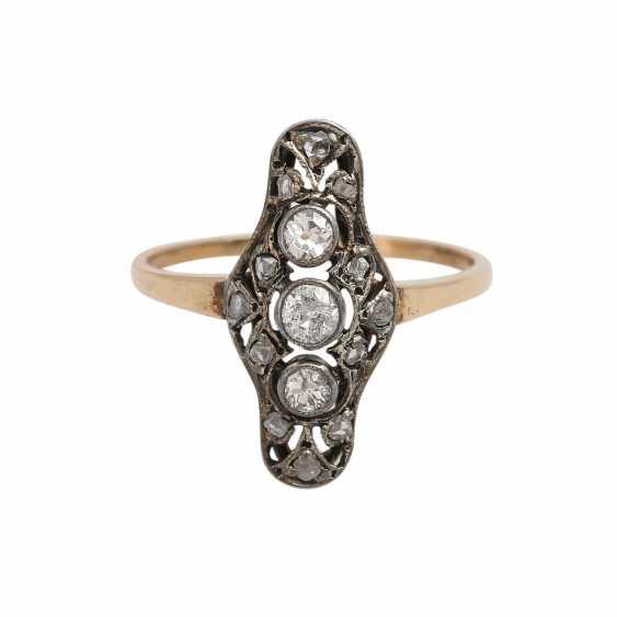 Art Deco Ring with diamonds - photo 1