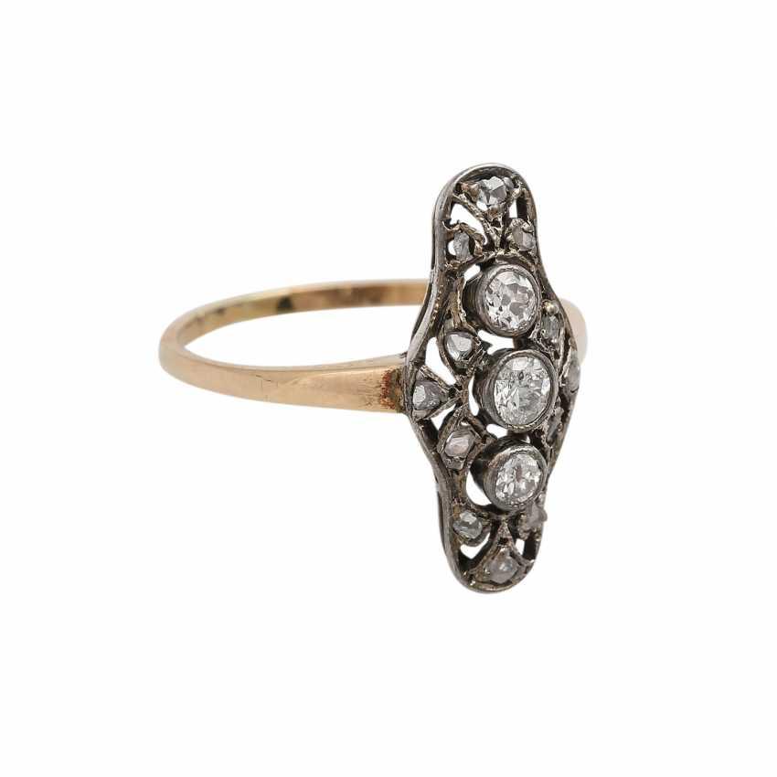 Art Deco Ring with diamonds - photo 2