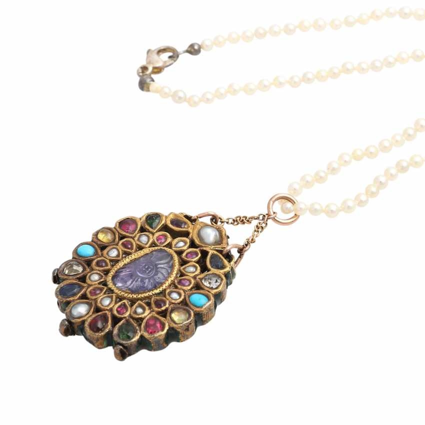 Pearl necklace with Oriental pendant - photo 4