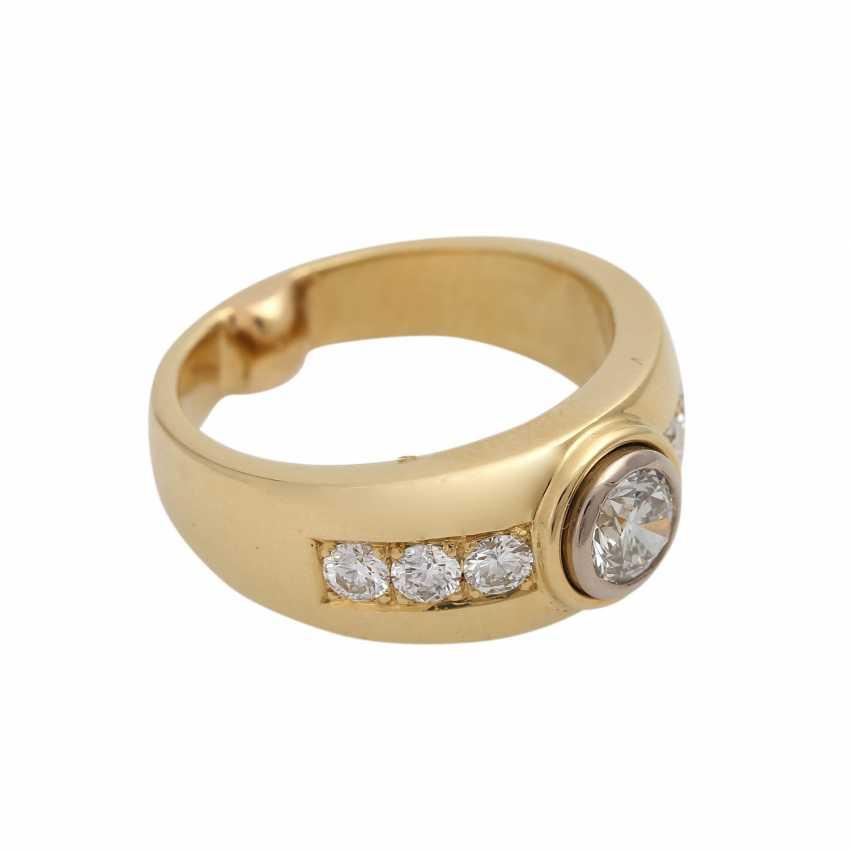 Ring mit zentralem Brillant ca. 0,5 ct, - photo 2