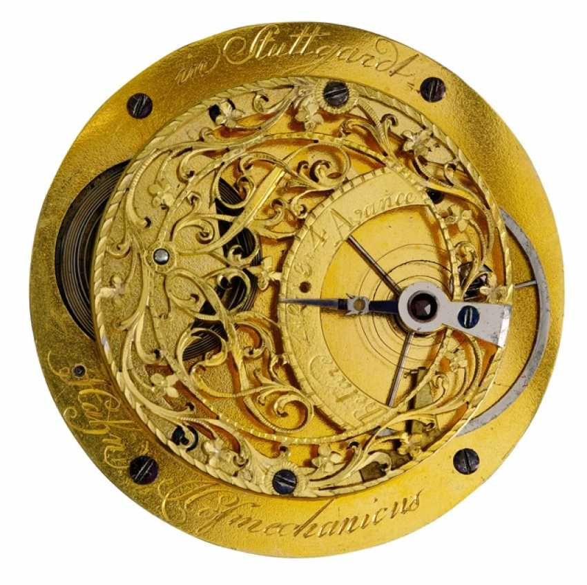 Rare Pocket Watch Ref. Hahn Hofmechanicus in Stuttgardt, around 1800 - photo 3