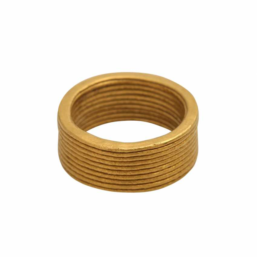 NIESSING wide fine gold ring - photo 1