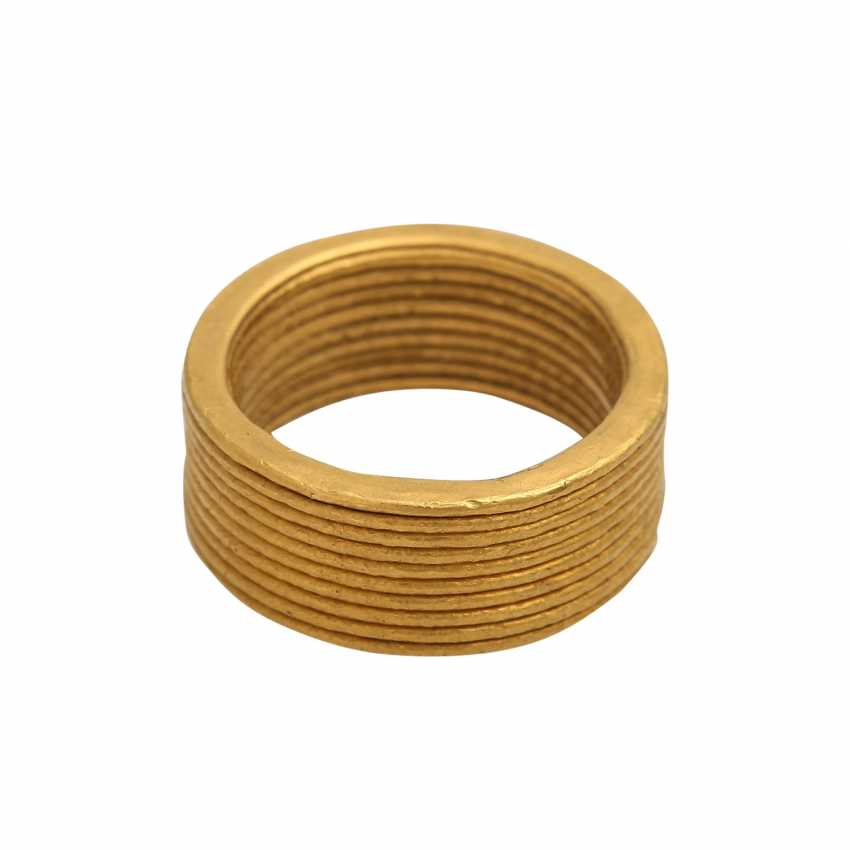 NIESSING wide fine gold ring - photo 2