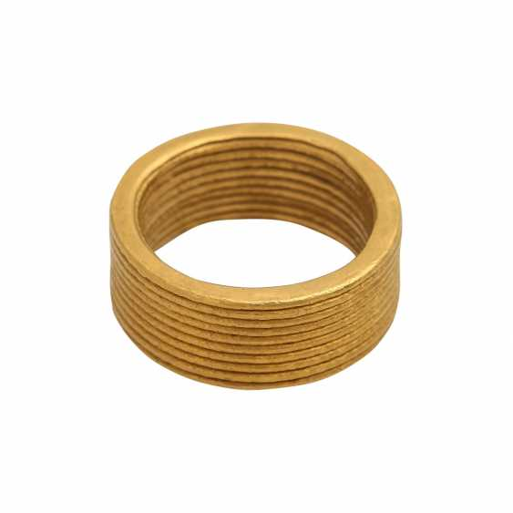 NIESSING wide fine gold ring - photo 3