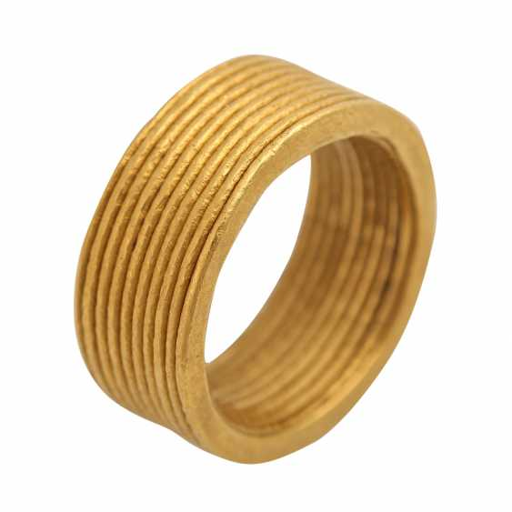 NIESSING wide fine gold ring - photo 4
