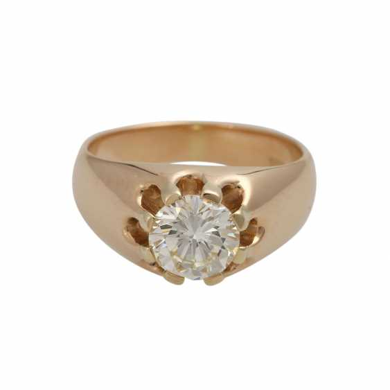 Solitaire ring with 1 diamond approx 1,35 ct - photo 1