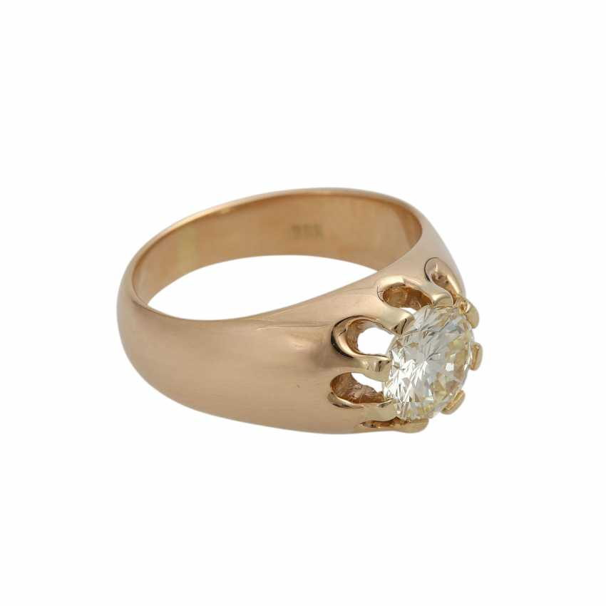 Solitaire ring with 1 diamond approx 1,35 ct - photo 2