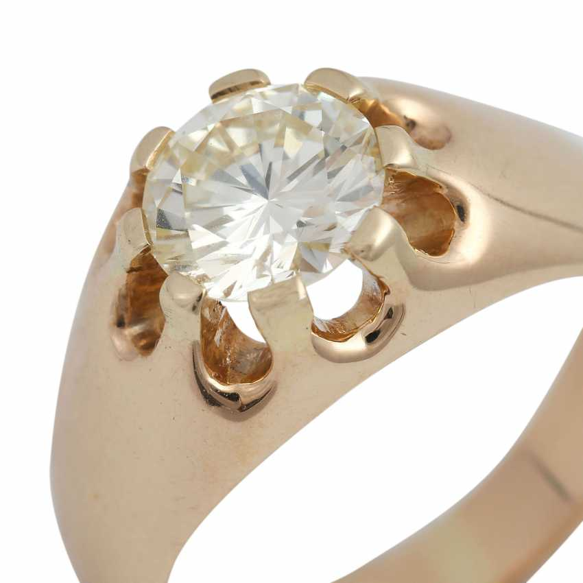 Solitaire ring with 1 diamond approx 1,35 ct - photo 5