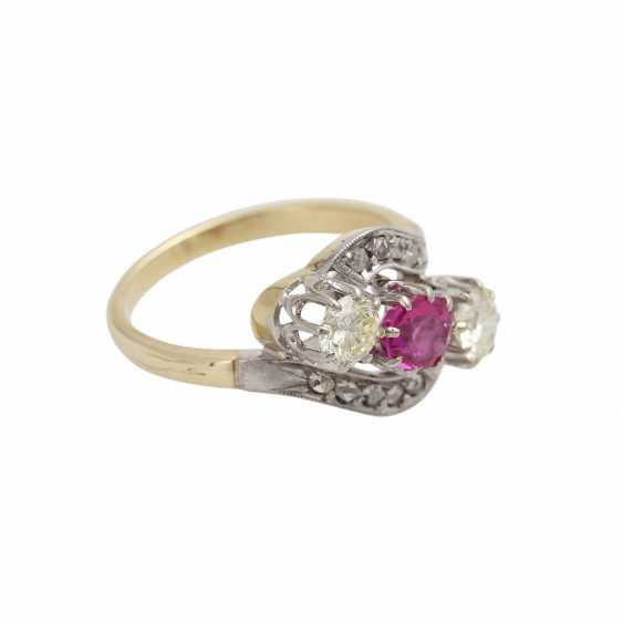 Ruby ring with diamonds - photo 2