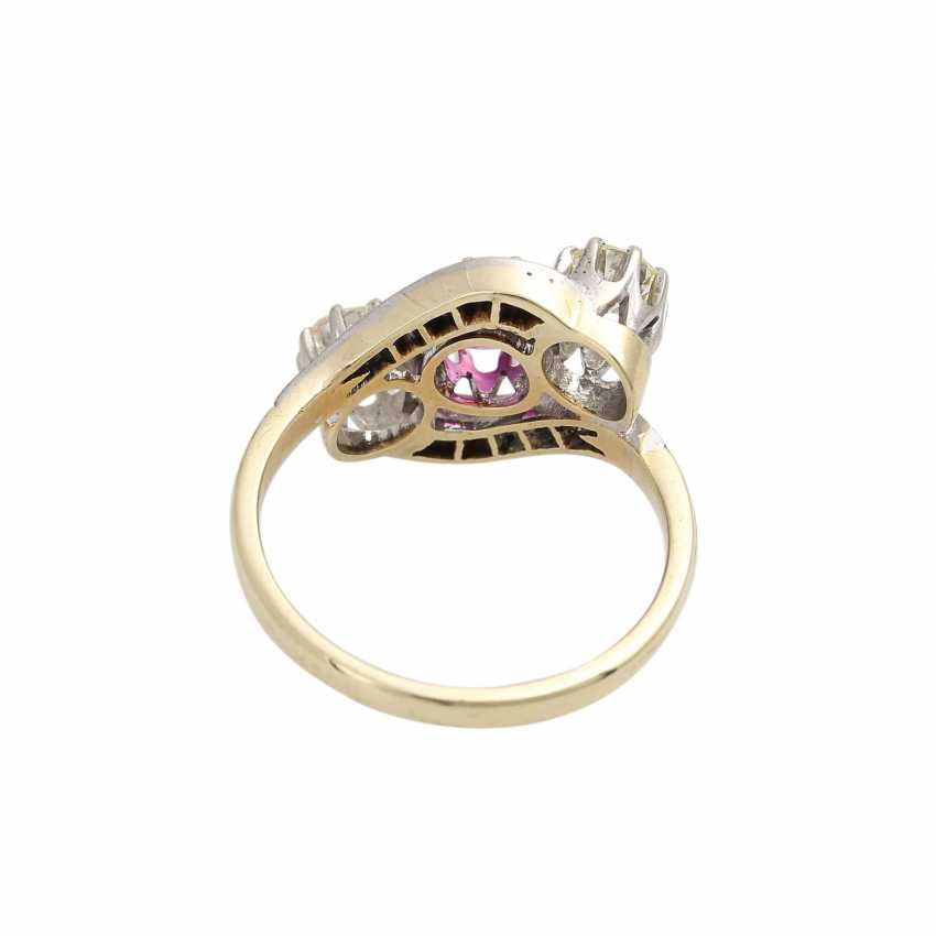 Ruby ring with diamonds - photo 4