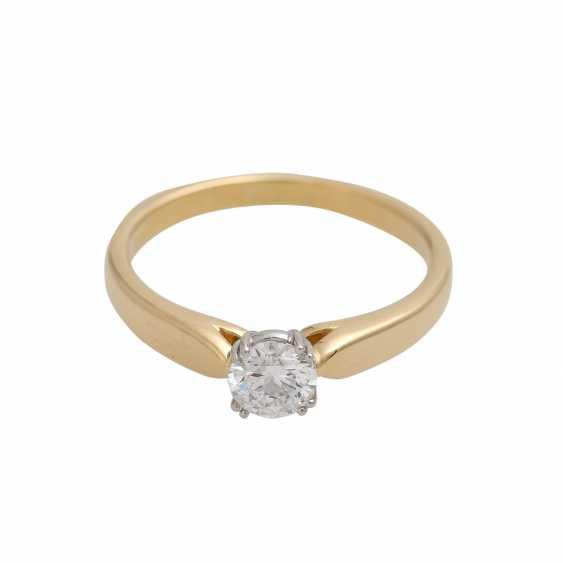 Solitaire ring with 1 diamond approx 0.6 ct - photo 1